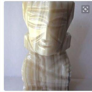 Other - Mayan Aztec Marvke carved Alabaster cream book end